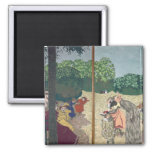 The Public Gardens 2 Inch Square Magnet