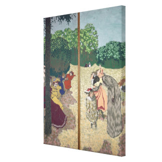 The Public Gardens Stretched Canvas Print