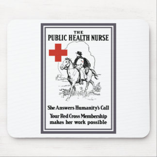 The Public Health Nurse -- Red Cross Mouse Pad