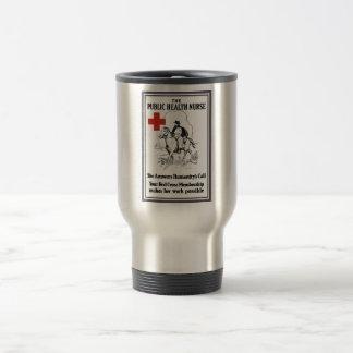The Public Health Nurse -- Red Cross Travel Mug