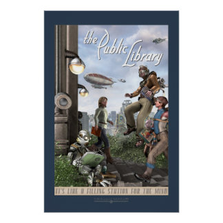 "The Public Library - Right Panel (20x30"") Poster"