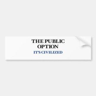 The Public Option Car Bumper Sticker