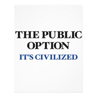 The Public Option Letterhead Design
