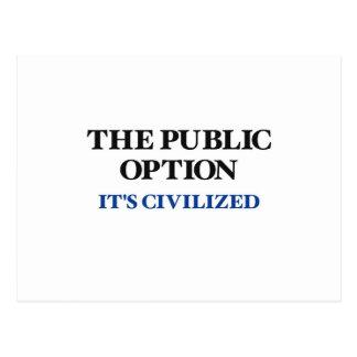 The Public Option Postcard