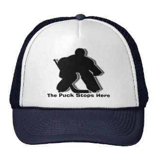 The Puck Stops Here Hats