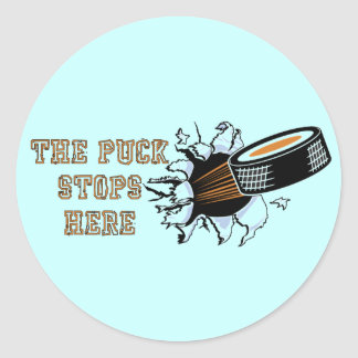 The Puck stops here Hockey stickers