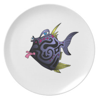 """The Puffer"" Fish With Attitude Dinner Plate"
