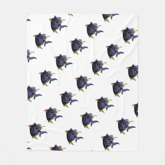 """The Puffer"" Fish With Attitude Fleece Blanket"