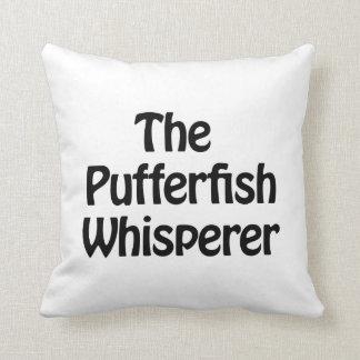 the pufferfish whisperer throw pillow