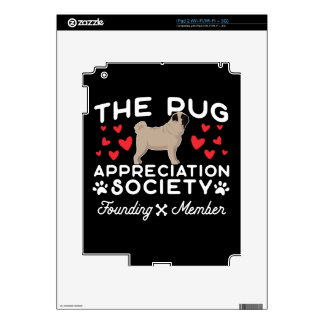 The Pug Appreciation Society Founding Member Decal For iPad 2