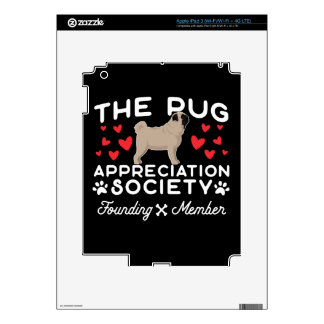 The Pug Appreciation Society Founding Member iPad 3 Decals