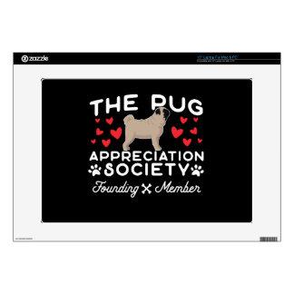 The Pug Appreciation Society Founding Member Skin For Laptop