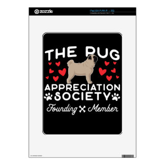 The Pug Appreciation Society Founding Member Skin For The iPad