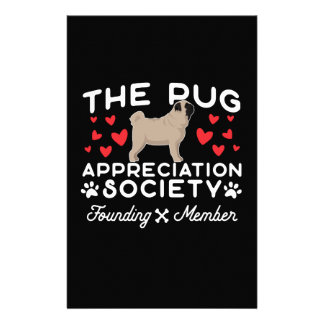 The Pug Appreciation Society Founding Member Stationery
