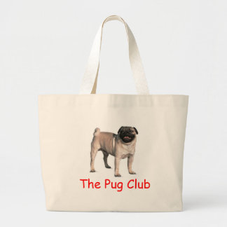 The Pug Club Large Tote Bag