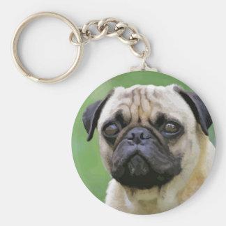 The Pug Dog Keychain