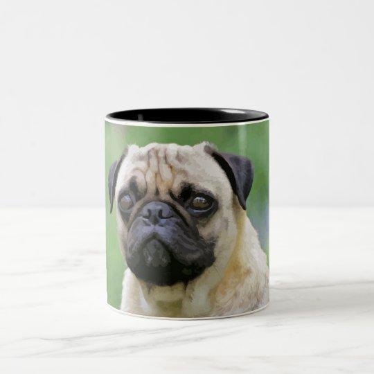 The Pug Dog Two-Tone Coffee Mug