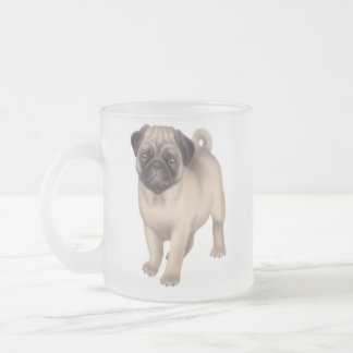 The Pug Frosted Glass Mug