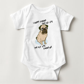 the Pug Life Baby Bodysuit