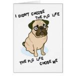 the Pug Life Greeting Card