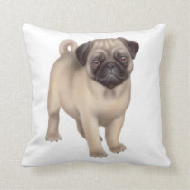 The Pug Puppy Pillow