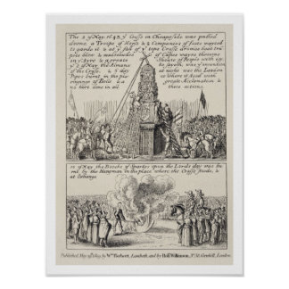 The pulling down of the Cheapside Cross by iconocl Poster