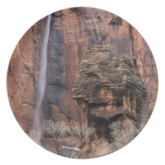 The Pulpit and ephemeral waterfall 2 Party Plate