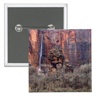 The Pulpit and ephemeral waterfall 2 Inch Square Button