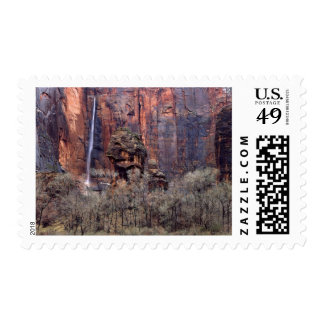 The Pulpit and ephemeral waterfall Postage Stamp