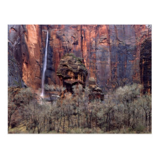 The Pulpit and ephemeral waterfall Postcard
