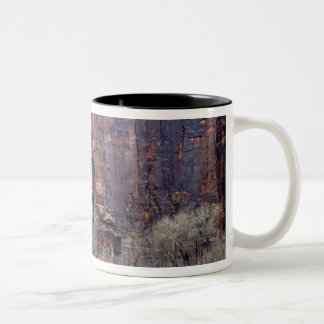 The Pulpit and ephemeral waterfall Two-Tone Coffee Mug