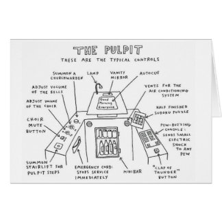 The Pulpit Church Catholic Funny Greeting Card