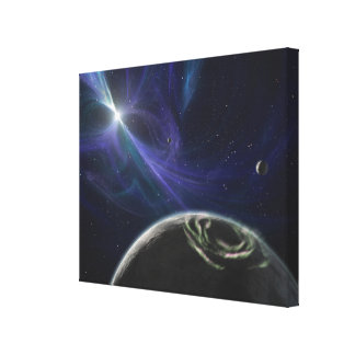 The pulsar planet system canvas print