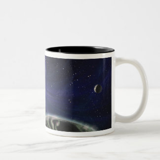 The pulsar planet system Two-Tone coffee mug