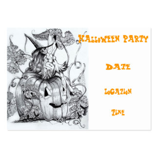 "The Pumpkin Fairy ~ Chubby, 3.5"" x 2.5"", 100 pack Business Cards"