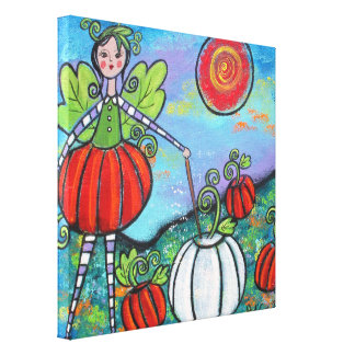 The Pumpkin Fairy Gallery Wrapped Canvas