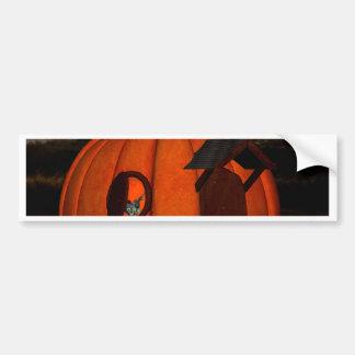 The pumpkin house car bumper sticker