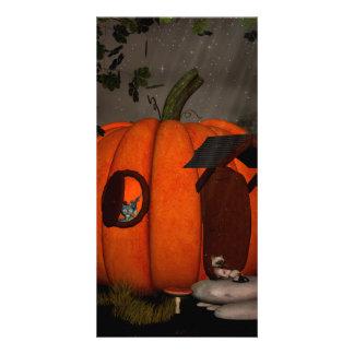 The pumpkin house customized photo card