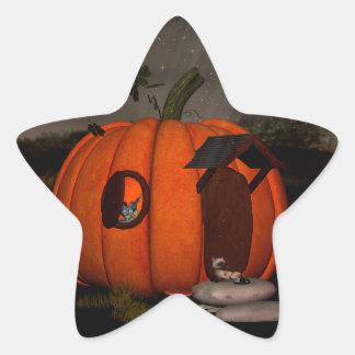 The pumpkin house star sticker