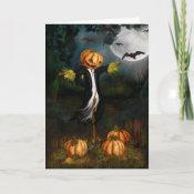 The Pumpkin Patch Halloween Card card