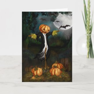 The Pumpkin Patch Halloween Card card