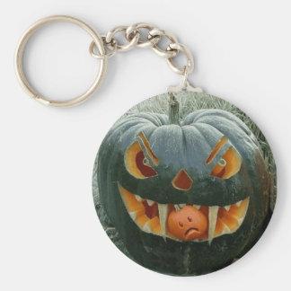 The pumpkin with the garden - keychain