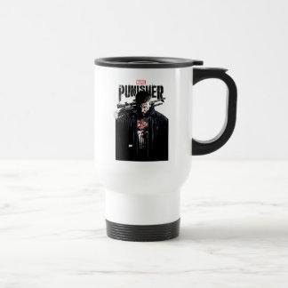 The Punisher   Jon Quesada Cover Art Travel Mug