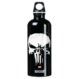 The Punisher | Painted Skull Logo Aluminum Water Bottle