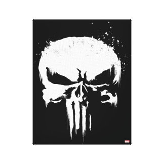 The Punisher | Painted Skull Logo Canvas Print