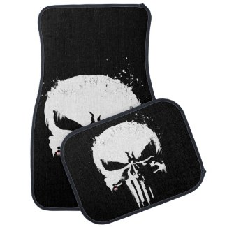 The Punisher | Painted Skull Logo Car Floor Mat