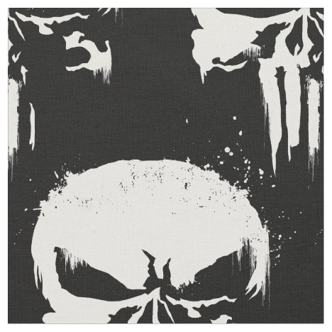 The Punisher | Painted Skull Logo Fabric