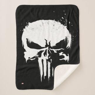 The Punisher | Painted Skull Logo Sherpa Blanket