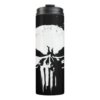 The Punisher | Painted Skull Logo Thermal Tumbler