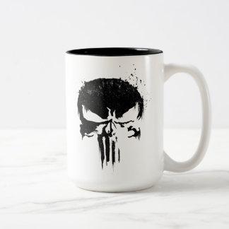 The Punisher | Painted Skull Logo Two-Tone Coffee Mug